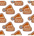 Christmas hat gingerbread seamless pattern vector image vector image