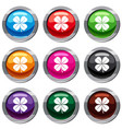 clover leaf set 9 collection vector image vector image