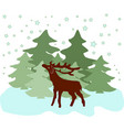 colorful of deer vector image