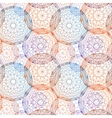 Concentric colored circles seamles pattern vector image