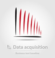 Data acquisition business icon vector image vector image