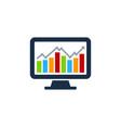 desktop stock market business logo icon design vector image