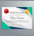 elegant geometric certificate design template vector image vector image