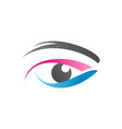 eye logo symbol icon design vector image vector image