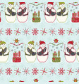 festive friends blue winter snowman stripes vector image