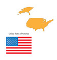 flag and outline of the usa vector image