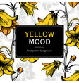 floral yellow mood vector image vector image