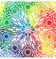 flower mandala design in oriental style vector image
