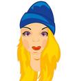 girl in hat vector image vector image