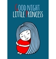 Good night little Princess vector image