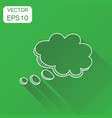 hand drawn speech bubble icon business concept vector image