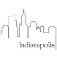 indianapolis city one line drawing vector image vector image