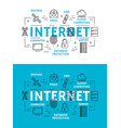 internet web elements and devices vector image vector image