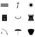island icon set vector image
