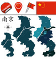 map of nanjing with divisions vector image vector image