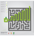 Maze Business Infographic Design Template vector image