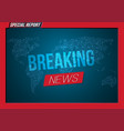 news banner template breaking design layout