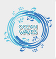ocean waves in circle shapes design vector image vector image