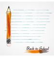 Orange pencil vector image vector image