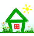 painted house stands on the lawn vector image
