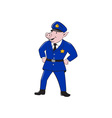 policeman pig sheriff cartoon vector image vector image