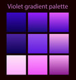 purple trendy set ultraviolet vector image vector image