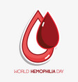 red blood drop to transfusion symbol vector image vector image