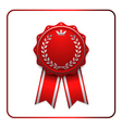 Ribbon award icon red vector image vector image