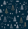 scandinavian seamless pattern of christmas vector image vector image