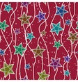 Seamless christmas pattern with christmas stars vector image