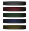 set different color fabric tags vector image