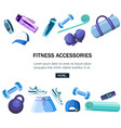 set sports accessories and clothes blue and vector image vector image
