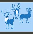 silhoette deer vector image vector image