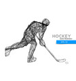 silhouette a hockey player vector image vector image