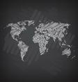 Sketchy World Map vector image vector image