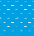 small sea wave pattern seamless blue vector image vector image