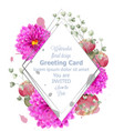 spring flowers card watercolor beautiful vector image vector image