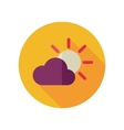 Sun and cloud flat icon Meteorology Weather vector image vector image