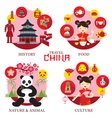 Travel China Concept Label vector image