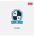 two color blazon icon from other concept isolated vector image