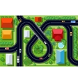 view of a highway junction vector image