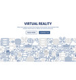 virtual reality banner design vector image vector image