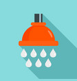 water drop wash icon flat style vector image