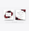 wedding floral invite invitation card design vector image vector image