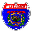 west virginia flag icons as interstate sign vector image vector image