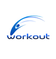 Workout logo vector | Price: 1 Credit (USD $1)