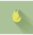 Yellow butterfly on a green background vector image vector image