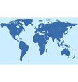 Silhouette world map vector image