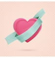 Heart and Ribbon Two vector image