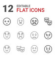 12 sadness icons vector image vector image